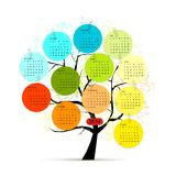 Calendar tree 2014 for your design Royalty Free Stock Photo
