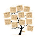 Calendar tree 2015 for your design. Vector illustration Stock Photos
