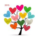 Calendar tree 2015 for your design. Vector illustration Stock Images