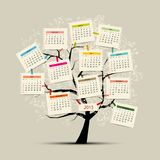 Calendar tree 2015 for your design. Vector illustration Stock Photography
