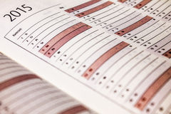 Calendar 2015 Royalty Free Stock Image