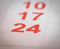Calendar twenty four Stock Images
