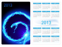Calendar twenty thirteen. Fire Snake Stock Images