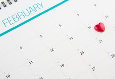 Calendar With Valentine Heart Shape III Royalty Free Stock Image