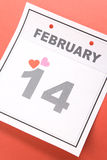 Calendar Valentine's Day Royalty Free Stock Photography