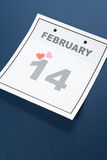 Calendar Valentine's Day Stock Images