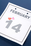 Calendar Valentine's Day Royalty Free Stock Image
