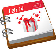 Calendar - Valentines day Royalty Free Stock Photos