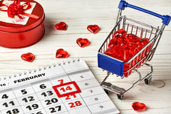 Calendar Valentines day Royalty Free Stock Photos