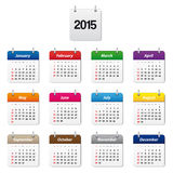 Calendar 2015. In various colors Stock Photography