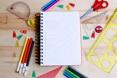 Calendar and various stationery Stock Photography