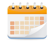 Calendar Vector. For web design Royalty Free Stock Photography