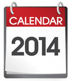 Calendar 2014 Vector Royalty Free Stock Photos