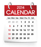 Calendar 2014 Vector Stock Photography