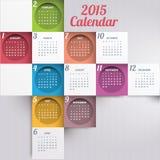Calendar 2015. Vector abstract multicolored calendar of 2015 Stock Photos