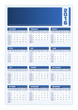 2016 Calendar vector blue portrait Royalty Free Stock Photo
