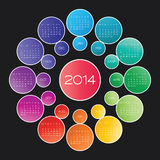 Calendar 2014 vector Stock Photos