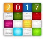 Calendar 2017 Vector Stock Images