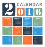 Calendar 2016 Vector design Royalty Free Stock Images