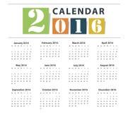 Calendar 2016 Vector  design Stock Photo