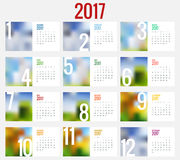 Calendar 2017. Vector design stationery template. Stock Image
