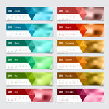 Calendar 2017. Vector design stationery template. Stock Photography