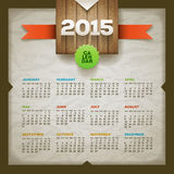 2015 Calendar. Vector design template. Elements are layered separately Stock Illustration