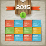 2015 Calendar. Vector design template. Elements are layered separately royalty free illustration