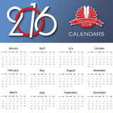 Calendar 2016 vector design template. With place for your logo Royalty Free Stock Photography