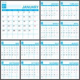 Calendar 2015 vector desing template. Calendar 2015 vector design template. Simple blank calendar illustration Stock Photo
