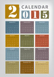 Calendar 2015 Stock Photos