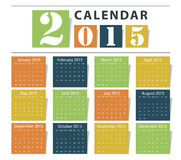 Calendar 2015. Vector earthtone design vector illustration