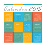 Calendar 2015 Royalty Free Stock Photo