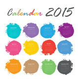 Calendar 2015. Vector earthtone design Stock Illustration