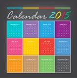 Calendar 2015. Vector earthtone design Royalty Free Illustration