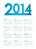 2014 calendar. Vector eps10 illustration Stock Photography