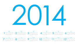 2014 Calendar. Vector Eps10 illustration Royalty Free Stock Images