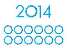 2014 Calendar. Vector Eps10 illustration Stock Photo