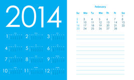 2014 Calendar. Vector Eps10 illustration Royalty Free Stock Photography