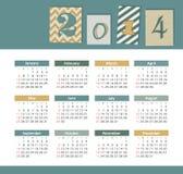 Calendar 2014 Royalty Free Stock Photos