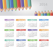 Calendar 2014. Vector calendar for 2014 eps without transparency Stock Photo