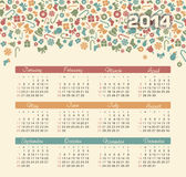 Calendar 2014. Vector calendar for 2014 eps without transparency Royalty Free Stock Images