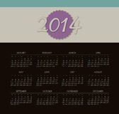 Calendar 2014. Vector calendar for 2014 eps without transparency Royalty Free Stock Photography