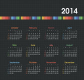 Calendar 2014. Vector calendar for 2014 eps without transparency Royalty Free Stock Photos