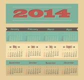 Calendar 2014 Royalty Free Stock Image