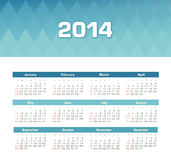 Calendar 2014. Vector calendar for 2014 eps without transparency Stock Image