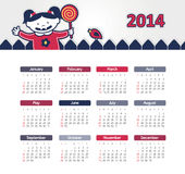 Calendar 2014. Vector calendar for 2014 eps without transparency Stock Photography