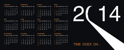 Calendar for 2014. Vector format Royalty Free Stock Photography