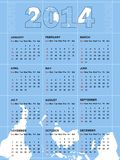 Calendar for 2014 Stock Photos