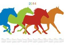 Calendar for 2014. Vector format royalty free illustration